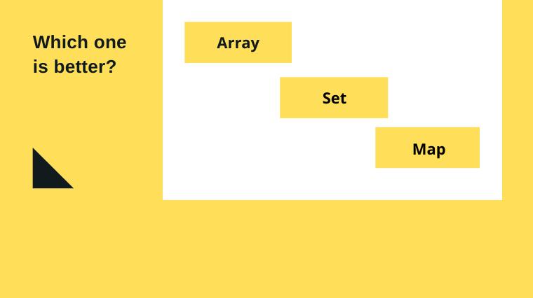 Array vs Set vs Map in javascript
